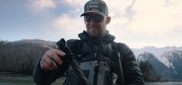 RED Raven 4.5k frame grab of Paul Considine taking a fly rod out of its case