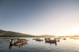 Local Bass tournament in Sandpoint Idaho on Lake Pend Orielle