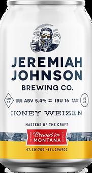 Jeremiah Johnson Brewing Company Honey Weizen Craft Beer