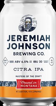 Jeremiah Johnson Brewing Company Citra IPA Craft Beer
