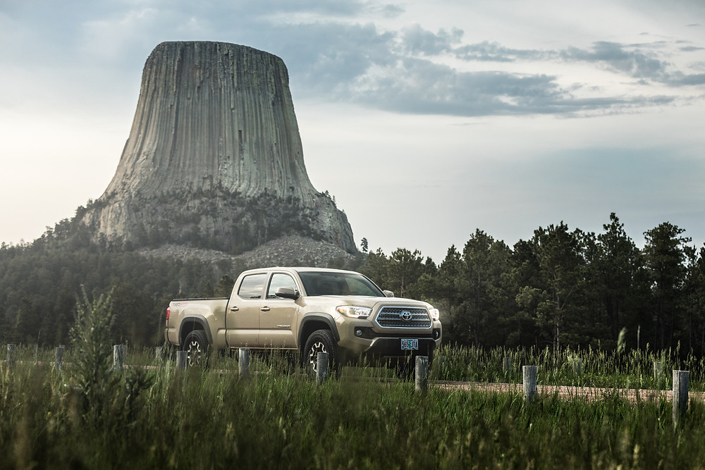 Toyota Tacoma TRD Offroad Tan at Devils Tower Wyoming