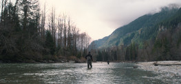 RED Raven 4.5k frame grab of fly fisherman casting in river