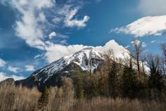 Mount Blackwall Southgate river Vancouver Islands, British Columbia, Canada