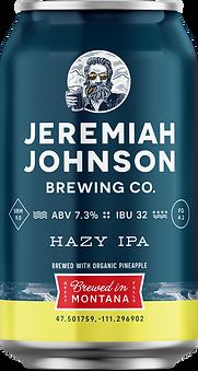 Jeremiah Johnson Brewing Company Hazy IPA Craft Beer