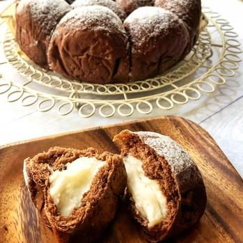 Coconuts cream chocolate buns