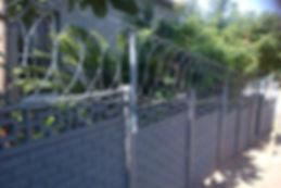 flatwrap fence, wall top fence, razor coil