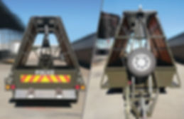 rapid-deployment-trailer-front-back-view, riot trailer, concertina coil trailer