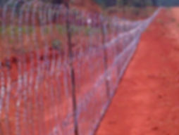 Razor coil, flatwrap fence, coil fence, free standing fnc