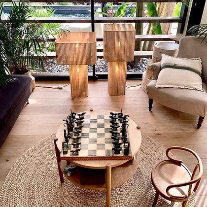 Lampe double 30' // Lacet mordoré - Collection STRAIGHT