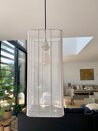 Suspension tube // Voile de lin - Collection INDOCHINE