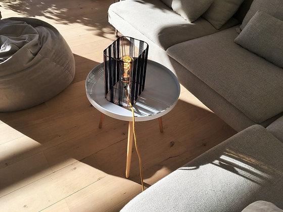 Lampe rectangle // Lacet fin noir - Collection GRAPHIQUE