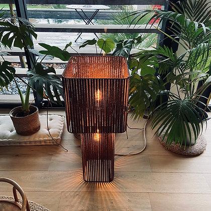 Lampe double 30' // Lacet noir & cuivre - Collection STRAIGHT