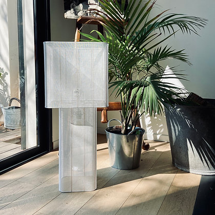 Lampe double // Voile de lin - Collection INDOCHINE