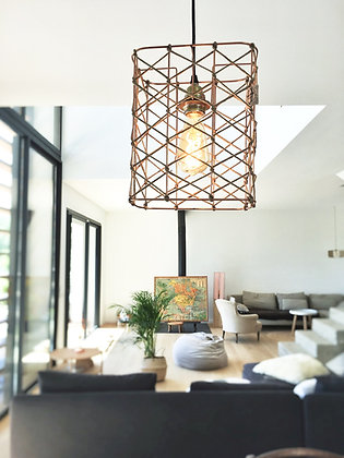 Suspension rectangle // Lacet lin - Collection RESILLE