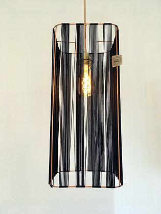 Suspension tube // Lacet fin noir - Collection GRAPHIQUE