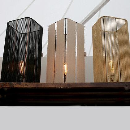 Lampe tube// Lacet noir ou lin - Collection STRAIGHT