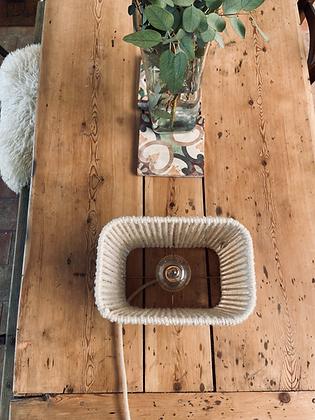 Lampe, suspension ou applique rectangle // Lacet lin écru - Collection STRAIGHT