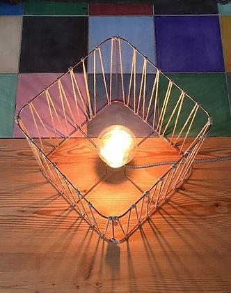 Lampe carrée // Lacet lin ou noir - Collection LACET