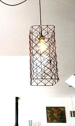 Suspension tube // lacet noir - Collection RESILLE