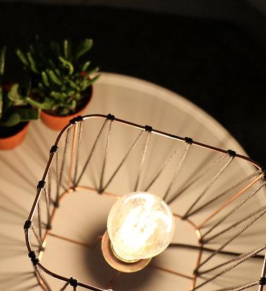 Lampe rectangle // Lacet noir - Collection LACET