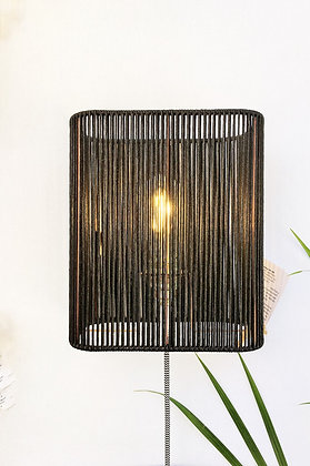 Applique ou lampe rectangle // Lacet noir - Collection STRAIGHT