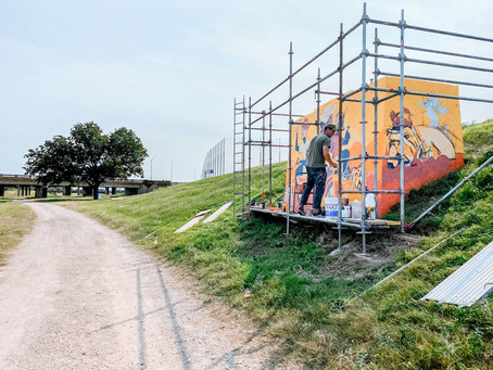 The Mural Gallery Along the Trinity River is Now Complete