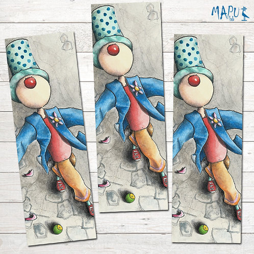 PN CLOWN WITH A FLOWER - Bookmark