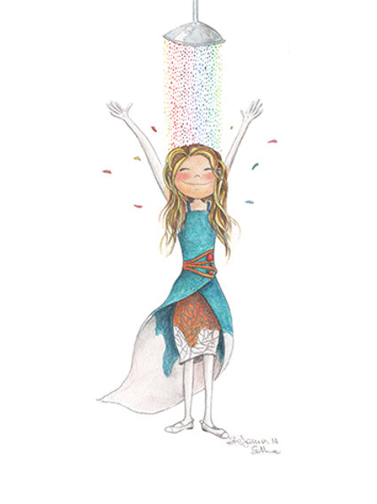 RAIMBOW SHOWER - Mini Illustration