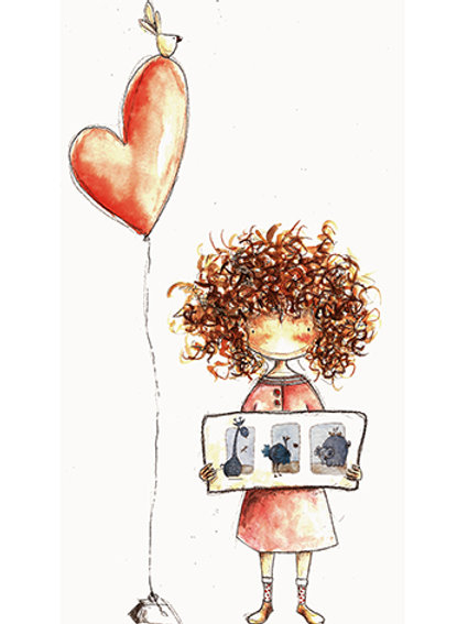 CURLY HAIR - Mini Illustration