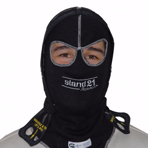"Black ""Lid-Lifter"" Dual Eyeport Balaclava"