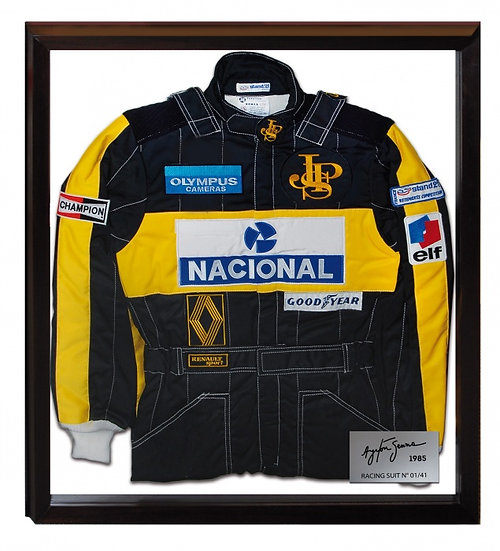 "Ayrton Senna ""JPS-Lotus"" Limited Edition Framed Firesuit"
