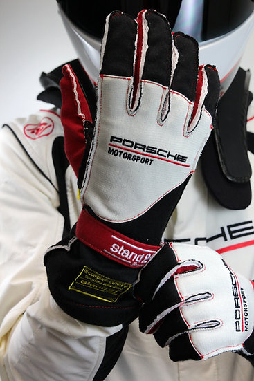 Porsche Motorsports Outside Seams II Racing Gloves