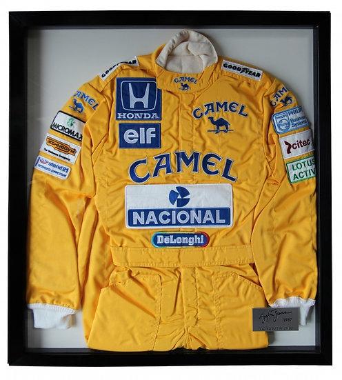 "Ayrton Senna ""Monaco 1987"" Limited Edition Framed Firesuit"