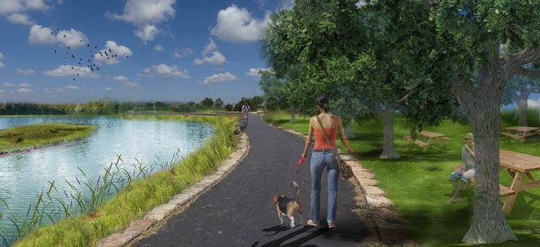 פארק עין נמפית-נחל נעמן-אגם וחורשה-הדמיה