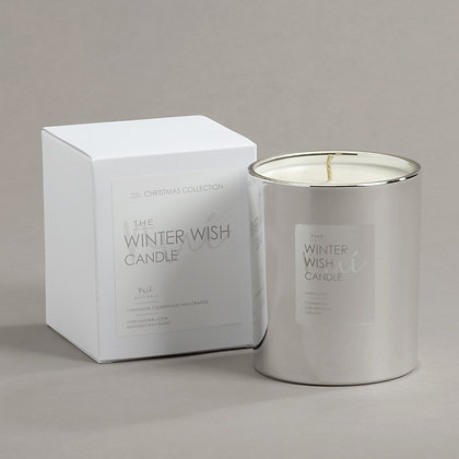 'Winter Wish' Scented Candle Silver, LIMITED EDITION