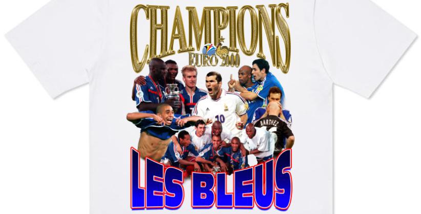 T-shirt France Champions EURO 2000