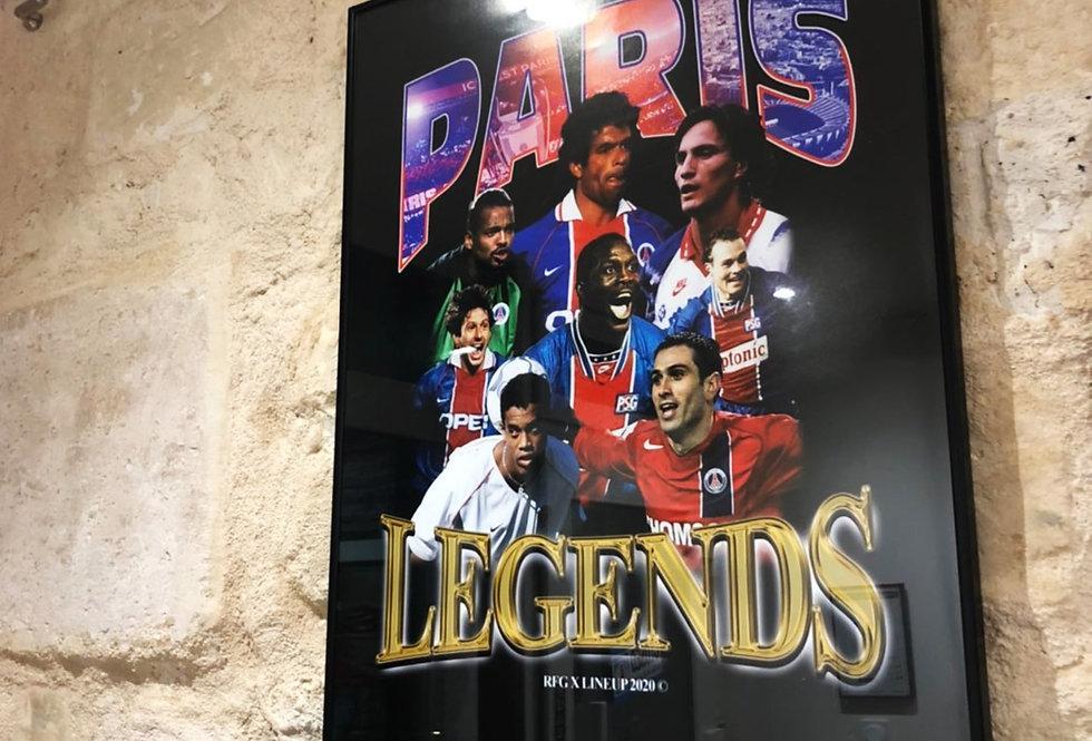 Affiche PSG Legends [LineUp x RFG]