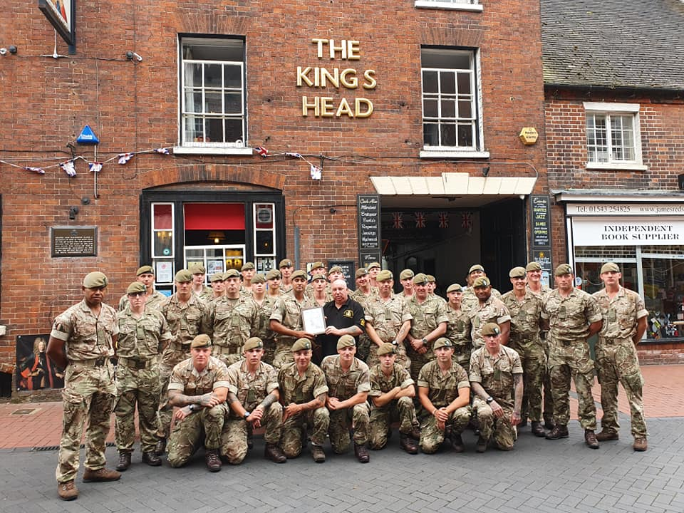 Visit by 2 Mercian Regiment