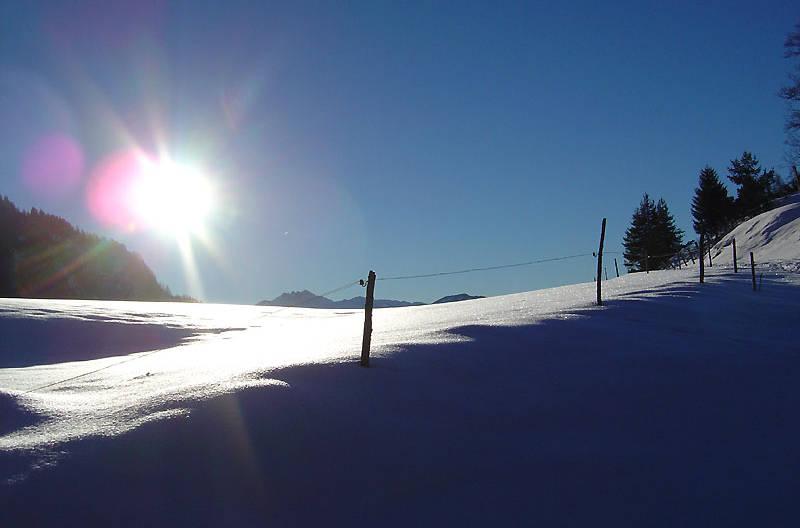 Den Winter in den Bergen genießen