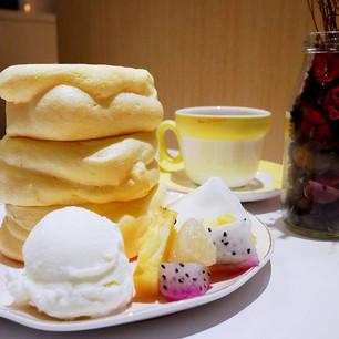 【桃園隱藏版甜品店】Nuageクラウド雲朵舒芙蕾鬆餅 讓人驚呼連連蓬鬆彈性 日式超厚實空氣棉花感的美味甜品