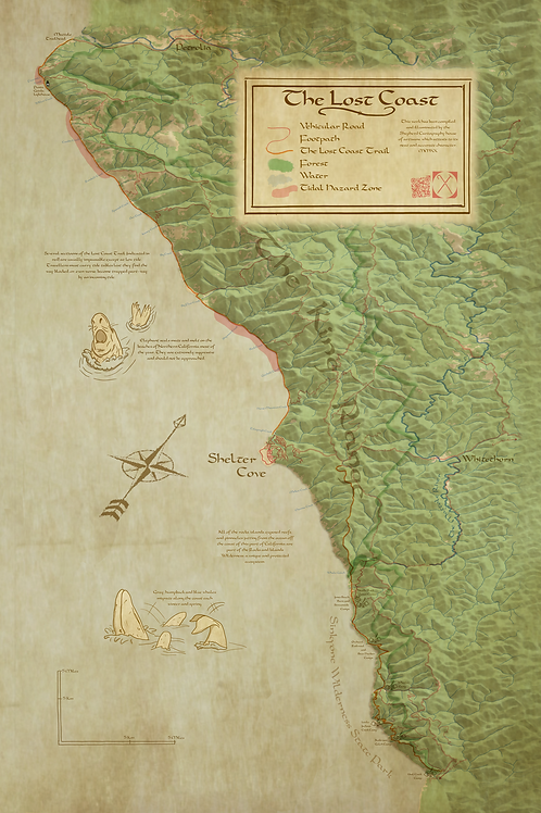 The Lost Coast Digital Map