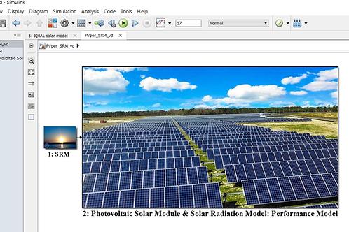 Solar Photovoltaic with Solar Radiation Model: Performance Model