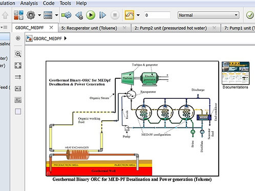 Geothermal Binary ORC-R245fa for MEDpf Desalination & Power