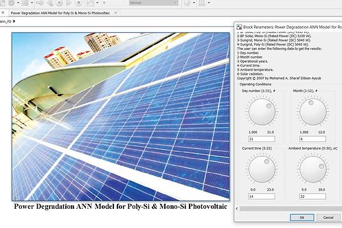Photovoltaic Power Degradation: ANN Model