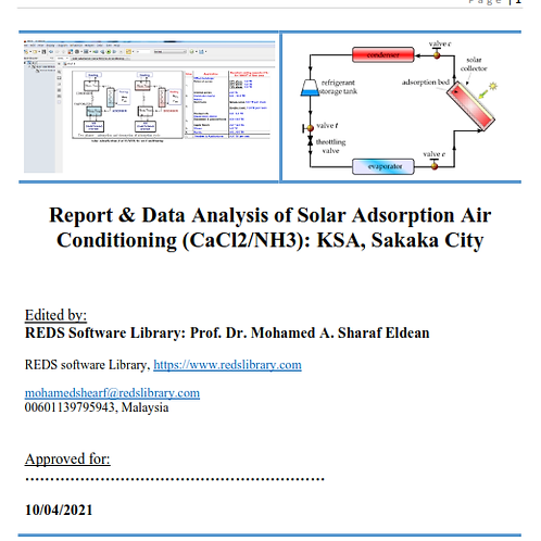 Design Analysis of Solar FPC Adsorption System: The Report