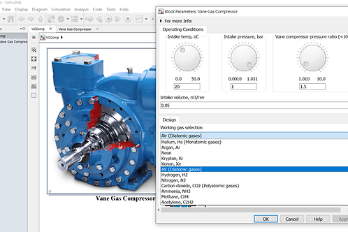 Vane Gas Compressor for 12 Different Gases