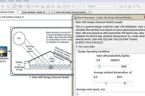 Solar Still Model: Design Model