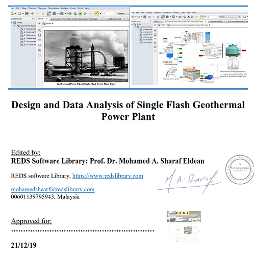 Design Analysis of Single Flash Geothermal Power Plant
