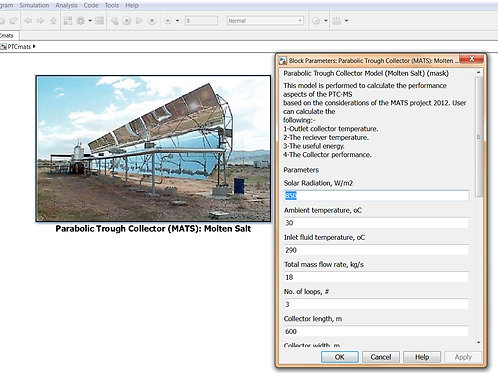 Parabolic Trough Collector (Performance & Design Models)