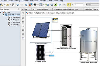 solar flat plate collector water heater system